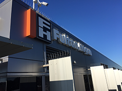 bird proofing applied to industrial building signage